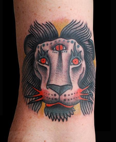 Tattoos - Cosmic Lion Tattoo - 91288