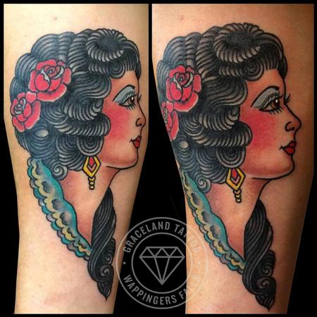 Tattoos - Traditional Cameo Tattoo - 111883