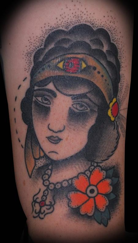 Tattoos - All Seeing Gypsy Tattoo - 61669