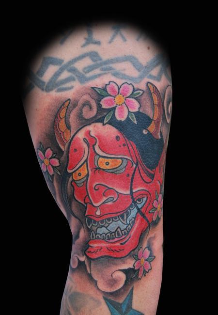 Tattoos - Red Hannya Mask Tattoo - 96262