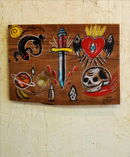 Tattoos - Flash on Wood 1 - 86543