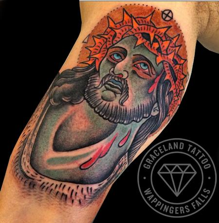 Radiant Christ Tattoo Design Thumbnail