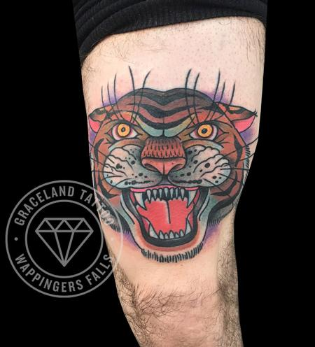 Traditional Tiger Tattoo Design Thumbnail