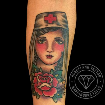 Tattoos - Rose of No Mans Land Tattoo - 111884