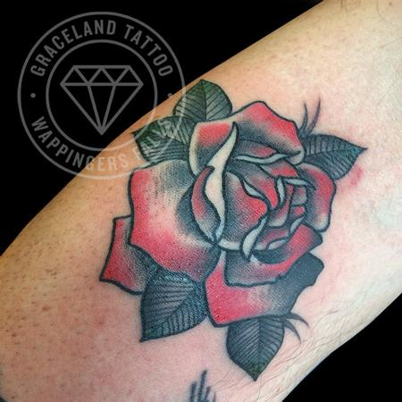 Traditional Rose Tattoo Design Thumbnail
