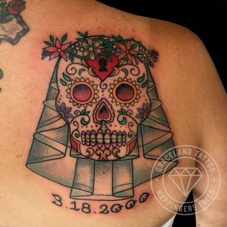 Tattoos - Sugar Skull Bride Tattoo - 122639
