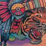 Tattoos - Traditional Tiger Chieftain Tattoo - 102391