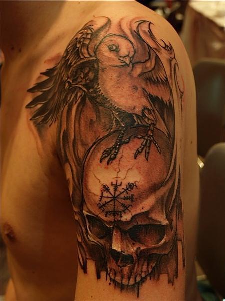 Tattoos - skull - 62403