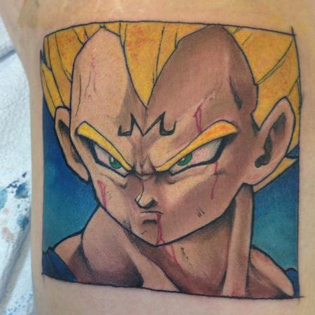 Vegeta by kelly gormley Tattoo Design