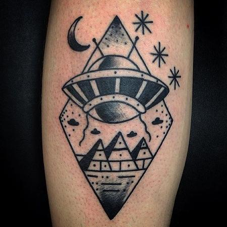 Tattoos - Traditional alien tattoo - 129580