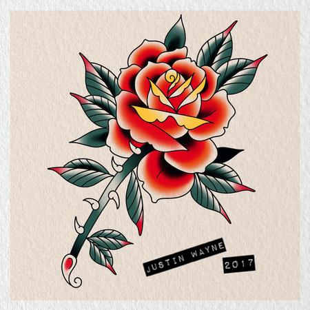 Tattoos - Traditional Rose Flash - 130757