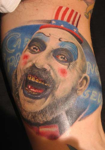 Tattoos - Captain Spaulding from the movie House of 1000 corpses - 29172
