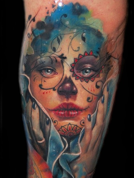 Tattoos - Day of the Dead tattoo - 50604