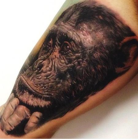 Monkey Tattoo Tattoo Design Thumbnail