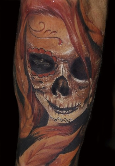 day of the dead tattoos pictures. Day of the dead skull
