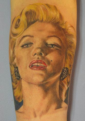 Tattoos - Marilyn Moroe by Alex De Pase - 29185