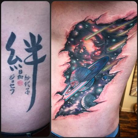 Tattoos - Space cover up  - 128992