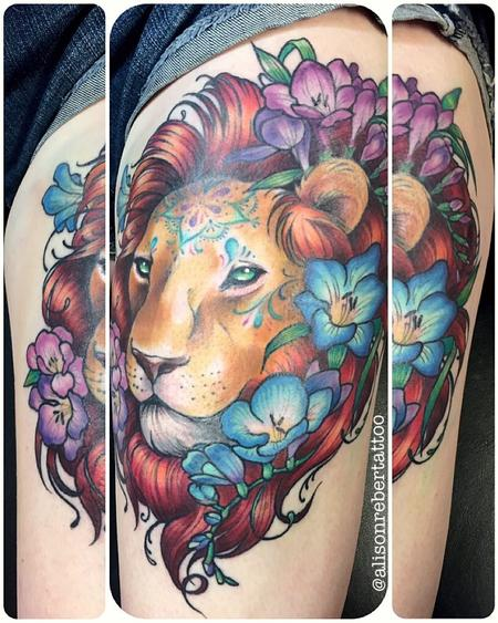 Tattoos - Lion Tattoo - 127770