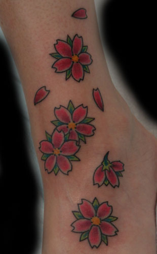tattoo Lotus and Cherry Blossoms tattoos of cherry blossoms Flower tattoos