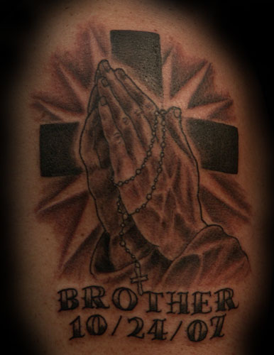 praying hands tattoo. praying hands tattoo.