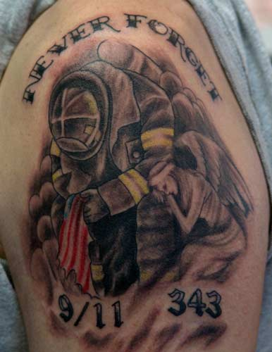 Black and Gray tattoos Tattoos 911 memorial
