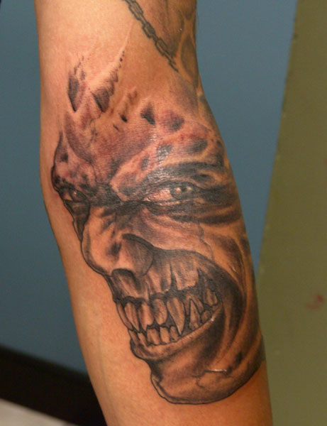 Tattoos - evil face - 32189