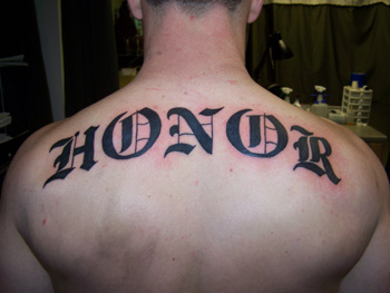 Tattoos - Jeff Raiano - honor