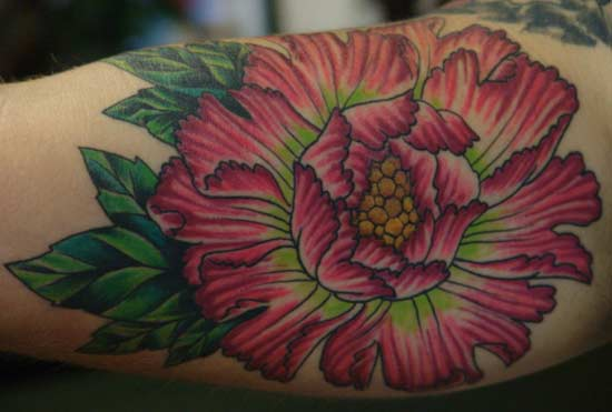Anthony Lawton Tattoos peony