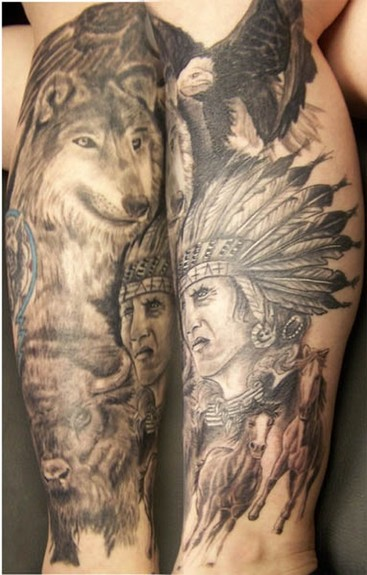 Tattoos > New York > Page 49 > native american leg