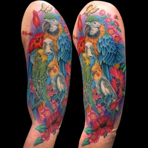 Tattoos - Exotic Birds Tattoo - 49844