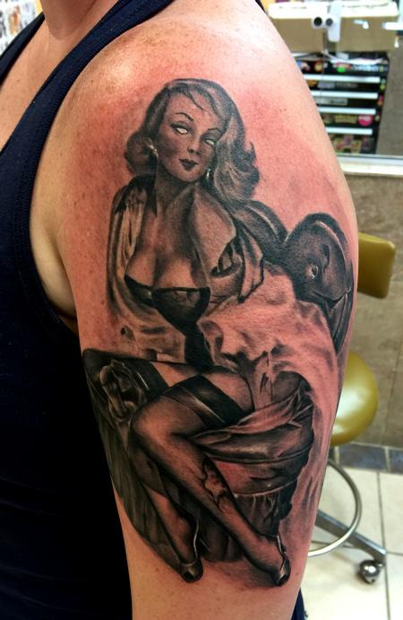 Tattoos - Zombie pin up - 109102