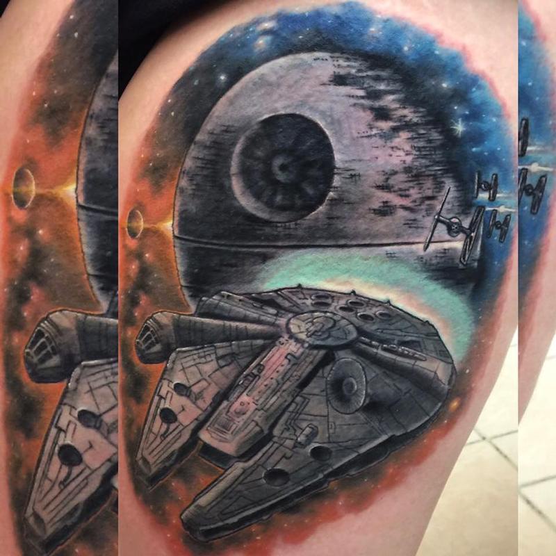 Millennium Falcon Tattoo Designs