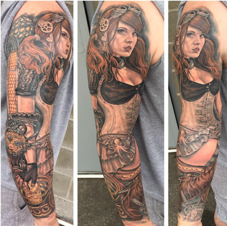 Tattoos - Steampunk Pinup - 106563