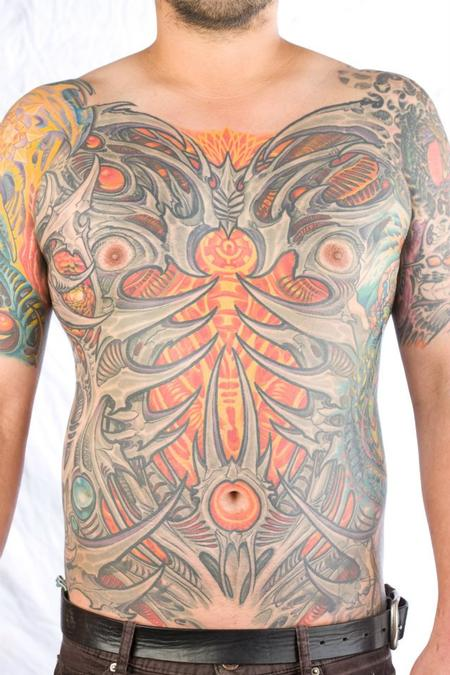 Tattoos - Bio mech chest  - 75167