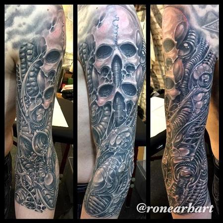 Tattoos - Giger inspired biomech - 114464