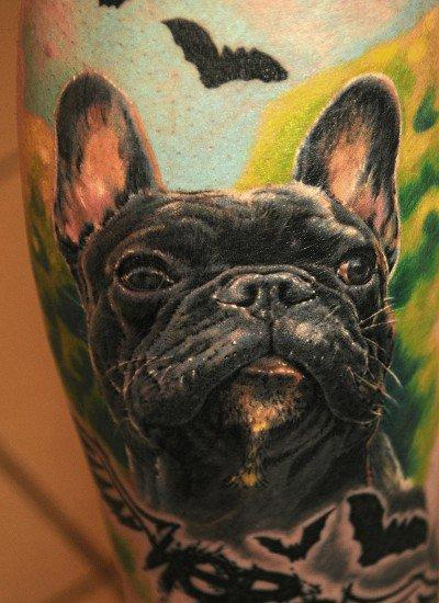 Dog Portrait Tattoo Tattoo Design
