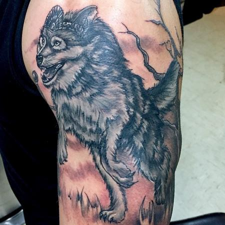 Wolf Tattoo Tattoo Design Thumbnail