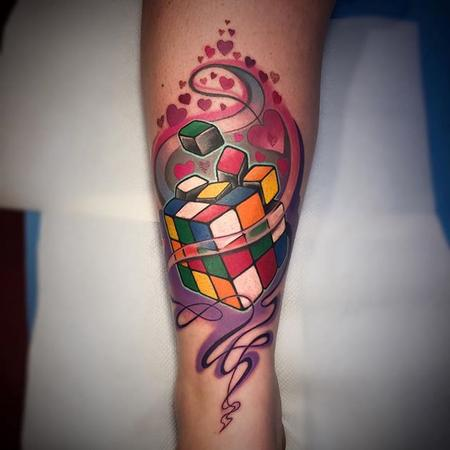 Tattoos - Rubik Cube Tattoo - 110115