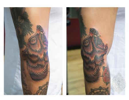 Tattoos - bear tattoo - 100208