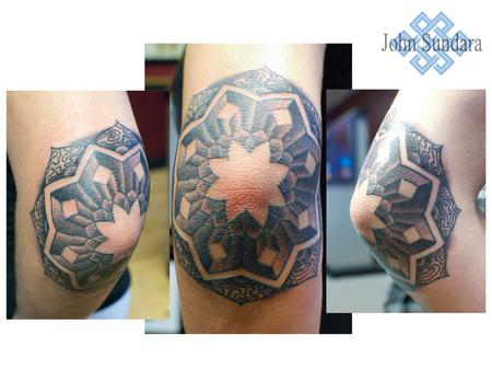 Tattoos - elbow mandala fun - 93502