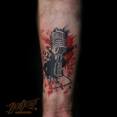 Tattoos - Trash Polka Microphone  - 131993