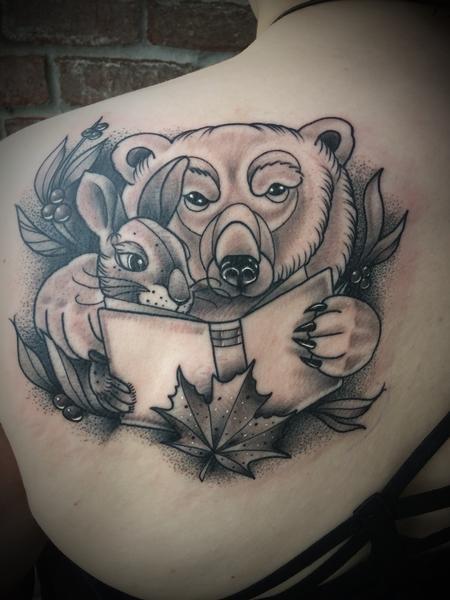 Tattoos - Polar bear rabbit - 133009
