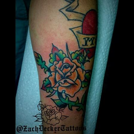 Tattoos - Traditional Yellow Rose - 128200