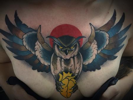 Tattoos - Owl chest piece  - 133906