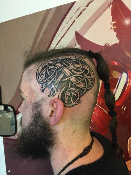 Tattoos - Celtic head knot - 130608
