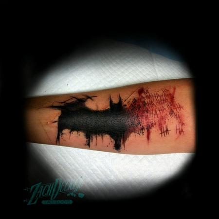 Tattoos - Trash Polka/Splatter Batman Symbol - 131995