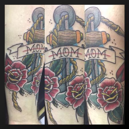 Tattoos - Mom anchor - 127388