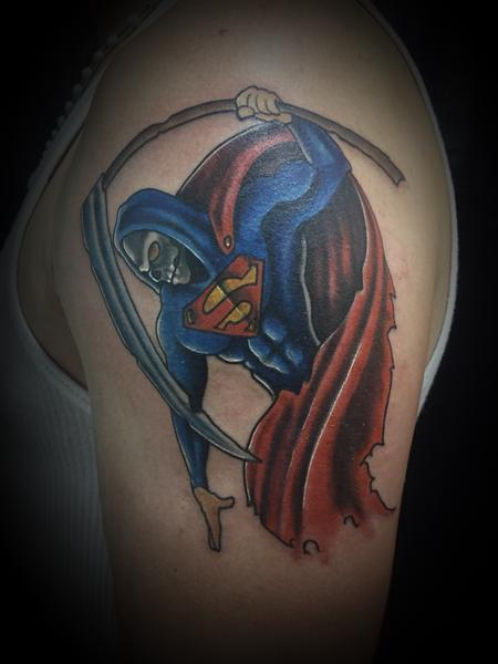 Tattoos - Super man reaper - 127404