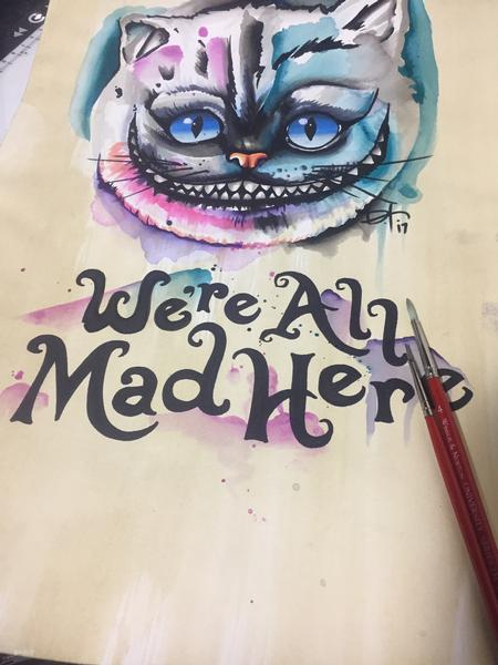 Dylan Talbert Davenport - Watercolor Cheshire Cat