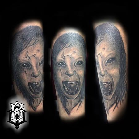 Tattoos - Screaming girl - 129511